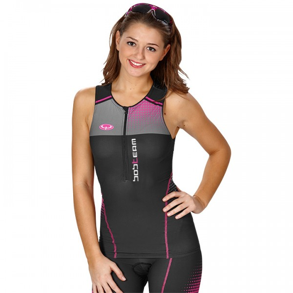 BOBTEAM Tri Top schwarz-pink N2084H6576