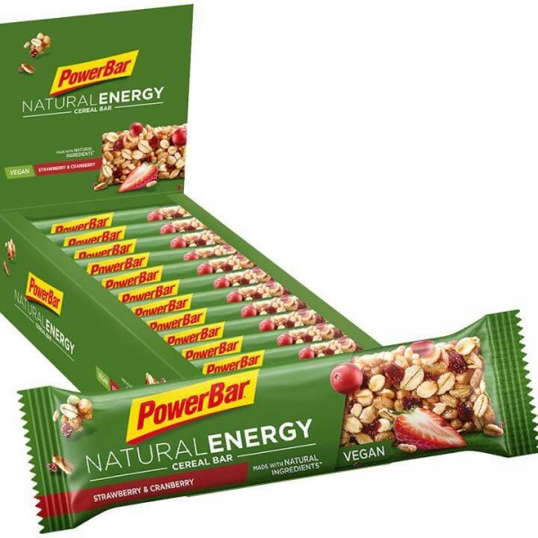 POWERBAR Natural Energy Cereal Riegel Strawberry 24/K. U4279F8240