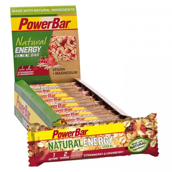 POWERBAR Natural Energy Riegel Erdbeer-Cranberry 24 Stck./K. G7097H1782